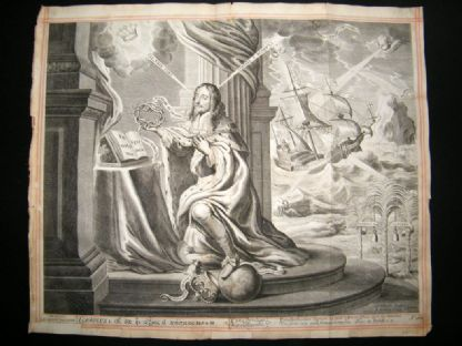 A. Hertoch after C. P. C. Fruytirs? 1662 Folio. Charles 1st, Ship, Globe, Classical | Albion Prints